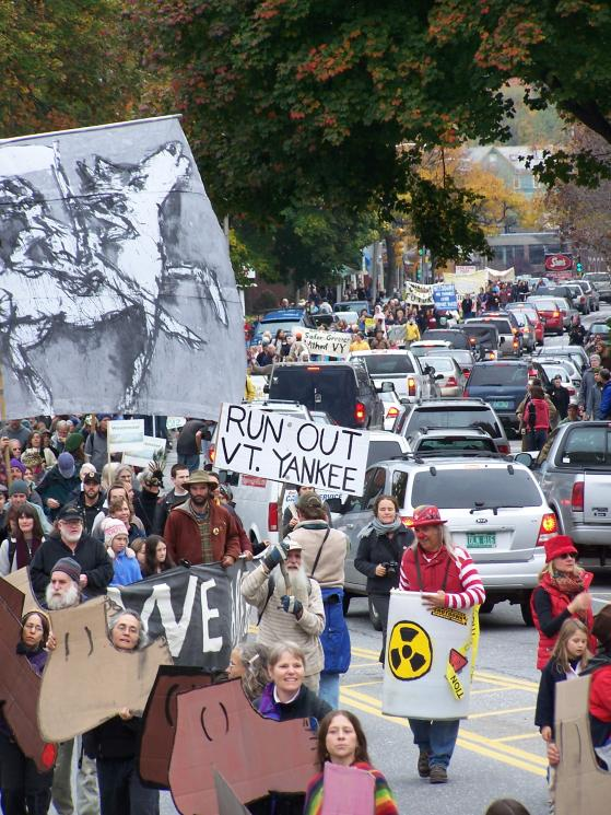 Anti-nuclear march. Brattleboro, 2008. photo by Eesha Williams